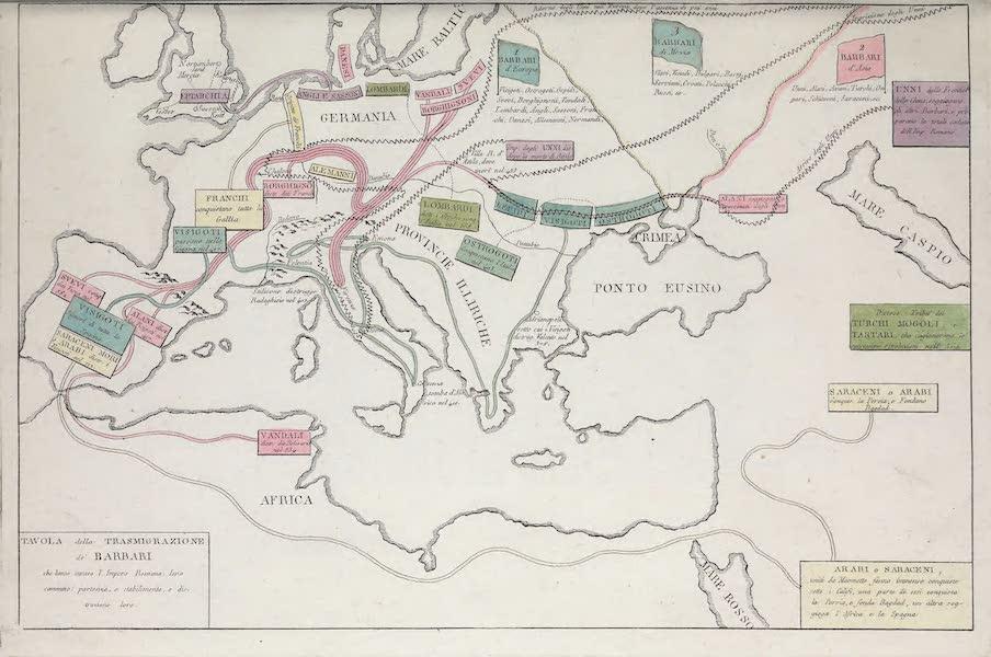 Le Costume Ancien et Moderne [Europe] Vol. 1, Pt. 1 - II. Table de l'invasion des Barbares (1817)