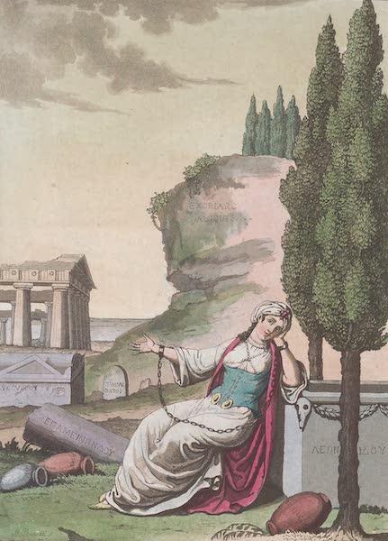 Le Costume Ancien et Moderne [Europe] Vol. 1, Pt. 1 - V. La Grece representee sous la figure d'une matrone dans les fers (1817)