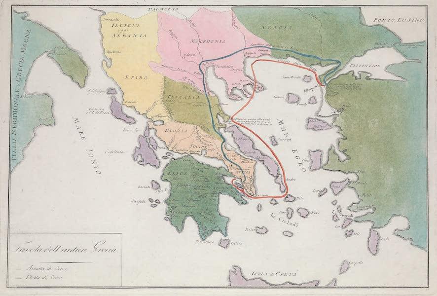 Le Costume Ancien et Moderne [Europe] Vol. 1, Pt. 1 - VI. Carte de la Grece ancienne (1817)