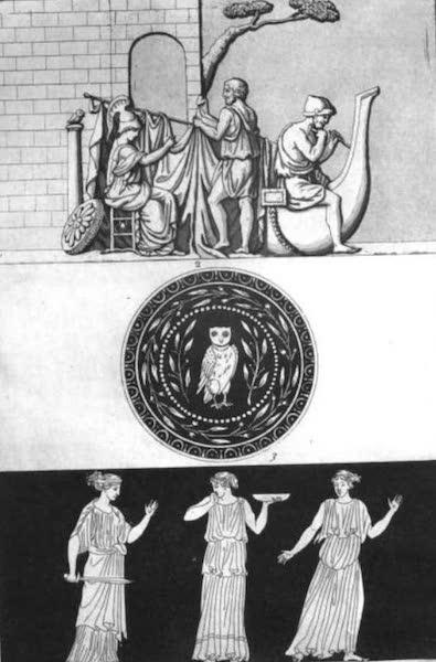 Le Costume Ancien et Moderne [Europe] Vol. 1, Pt. 1 - X. Monument de la maison Albani representant le navire Argos (1817)