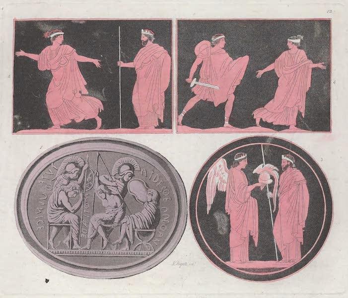 Le Costume Ancien et Moderne [Europe] Vol. 1, Pt. 1 - XII. Tydee, Polynice, Amphiaraus, Euriphile etc (1817)