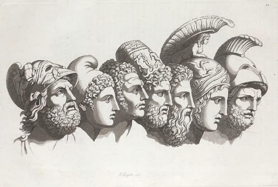 Le Costume Ancien et Moderne [Europe] Vol. 1, Pt. 1 - XIII. Sept principaux heros de la guerre de Troie (1817)