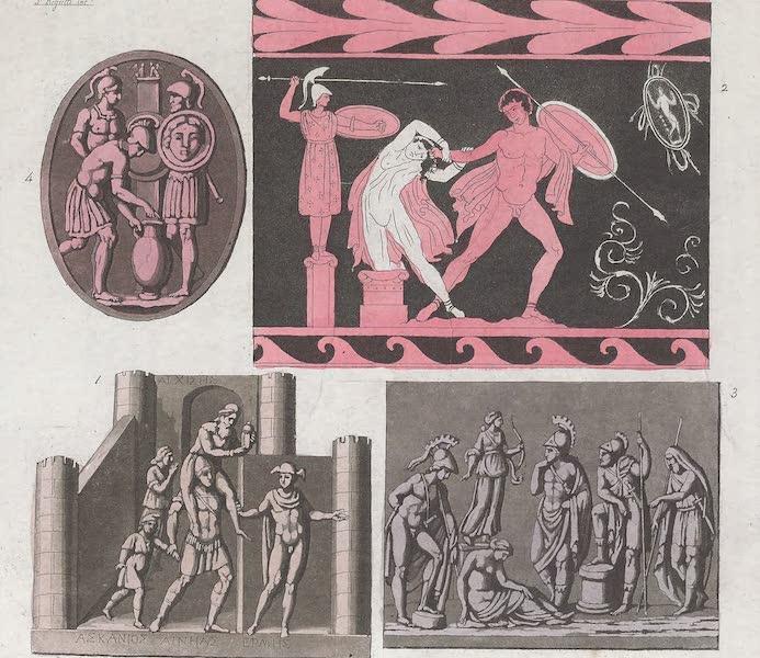 Le Costume Ancien et Moderne [Europe] Vol. 1, Pt. 1 - XIV. Enee fuyant de Troie. Cassandre, sacrifice d'Iphigenie (1817)