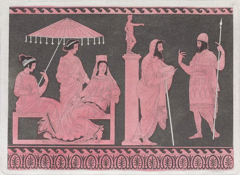 Le Costume Ancien et Moderne [Europe] Vol. 1, Pt. 1 - XVI. Images des anciens Rois de la Grece (1817)