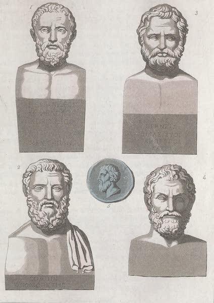 Le Costume Ancien et Moderne [Europe] Vol. 1, Pt. 1 - XXIV. Portraits de Periandre, Solon, Thales, Pittaque etc. (1817)