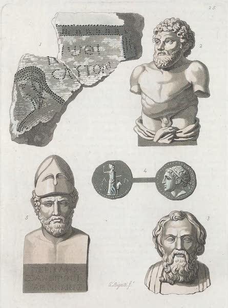 Le Costume Ancien et Moderne [Europe] Vol. 1, Pt. 1 - XXV. Portraits de Licurgue, Cleomene III, Pericles etc. (1817)