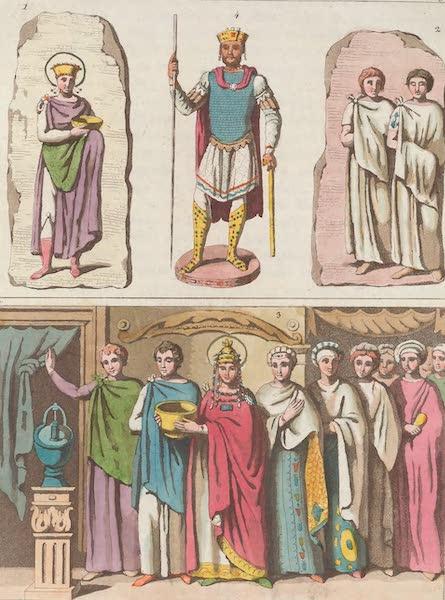 Le Costume Ancien et Moderne [Europe] Vol. 1, Pt. 1 - XXIX. Images de Justinien et de Theodore (1817)