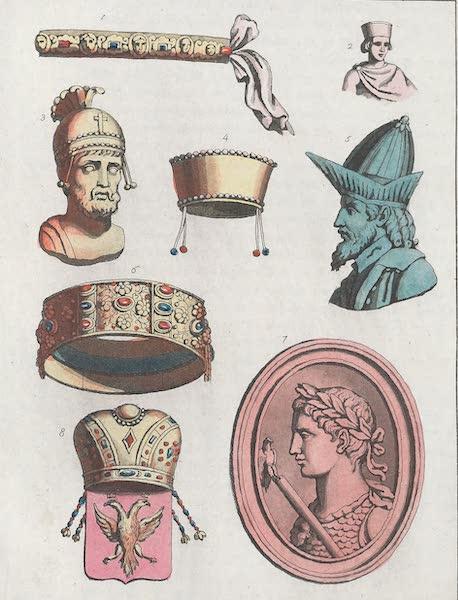 Le Costume Ancien et Moderne [Europe] Vol. 1, Pt. 1 - XXX. Diademe de Constantin, de Phocas etc. (1817)