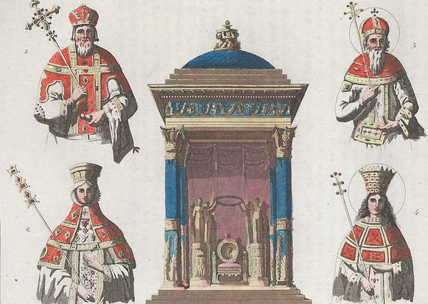 Le Costume Ancien et Moderne [Europe] Vol. 1, Pt. 1 - XXXI. Sceptres, trones etc. (1817)