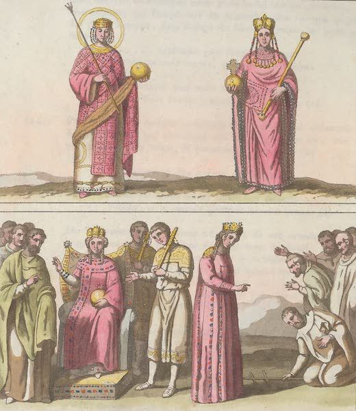 Le Costume Ancien et Moderne [Europe] Vol. 1, Pt. 1 - XXXII. Habillement des Imperatrices Grecques (1817)