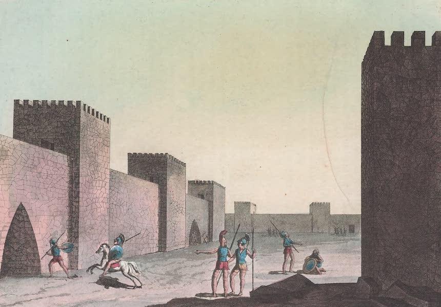 Le Costume Ancien et Moderne [Europe] Vol. 1, Pt. 1 - XXXIII. Interieur d'une ville de construction Cyclopeenne (1817)