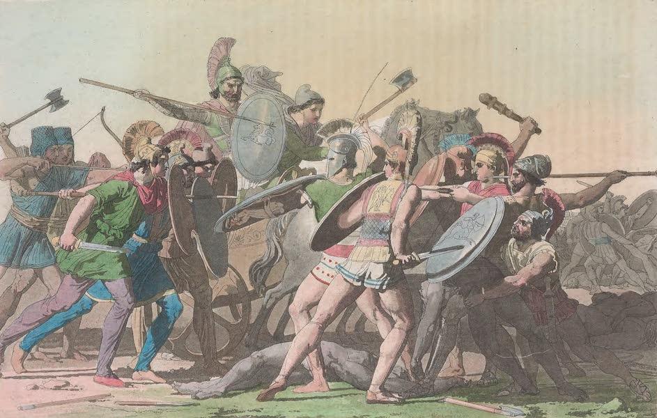Le Costume Ancien et Moderne [Europe] Vol. 1, Pt. 1 - XXXIV. Combat pour le cadavre de Patrocle (1817)
