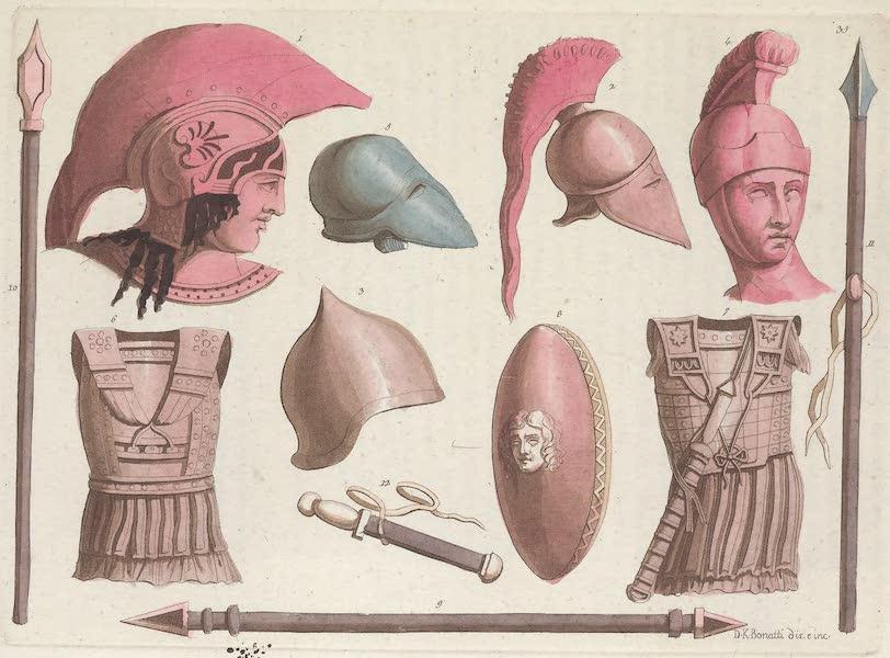 Le Costume Ancien et Moderne [Europe] Vol. 1, Pt. 1 - XXXV. Casques cuirasses boucliers etc. (1817)