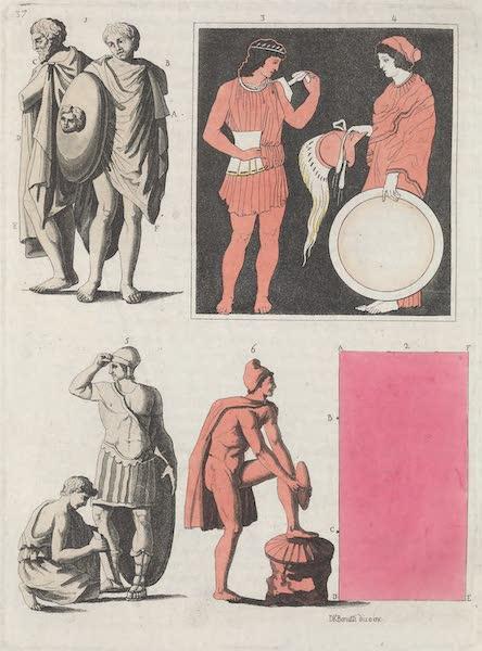 Le Costume Ancien et Moderne [Europe] Vol. 1, Pt. 1 - XXXVII. Chlamydes, jambards etc. (1817)