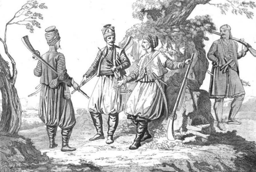Le Costume Ancien et Moderne [Europe] Vol. 1, Pt. 1 - XLVIII. Soldats Albanais, Cariens (1817)