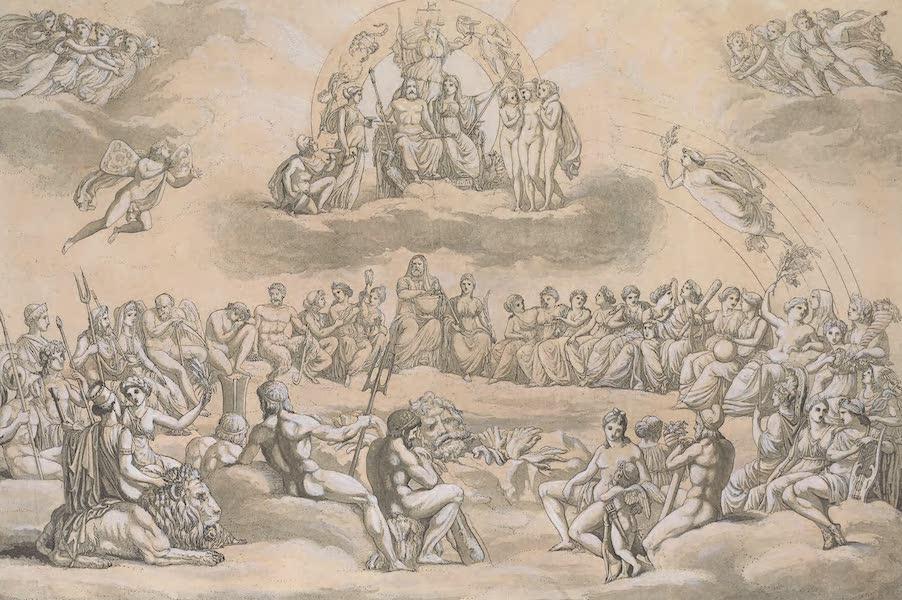 Le Costume Ancien et Moderne [Europe] Vol. 1, Pt. 1 - XLIX. Principales Deites des Grecs dans l'Olympe  (1817)