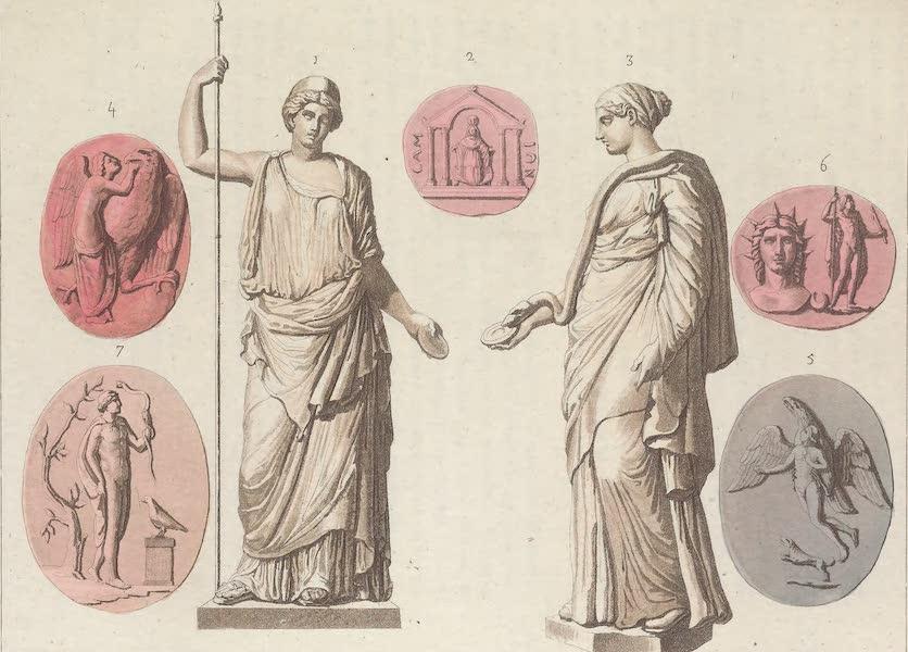 Le Costume Ancien et Moderne [Europe] Vol. 1, Pt. 1 - LII. Images de Junon, d'Igee, d'Hebe etc. (1817)