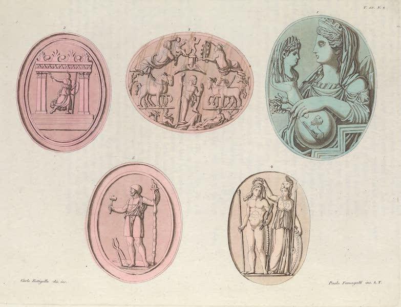 Le Costume Ancien et Moderne [Europe] Vol. 1, Pt. 1 - LIII. No. 1. Images, de Cybele, de Neptune, de Minerve Polyade etc. (1817)