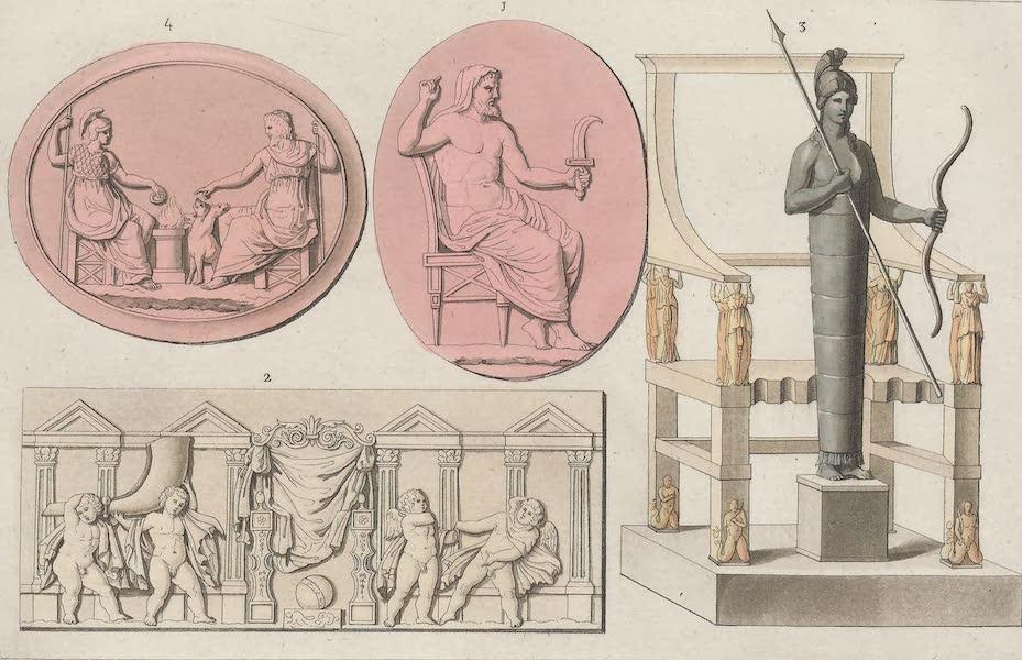 Le Costume Ancien et Moderne [Europe] Vol. 1, Pt. 1 - LV. Saturne, trone de Saturne, statue et trone d'Apollon (1817)