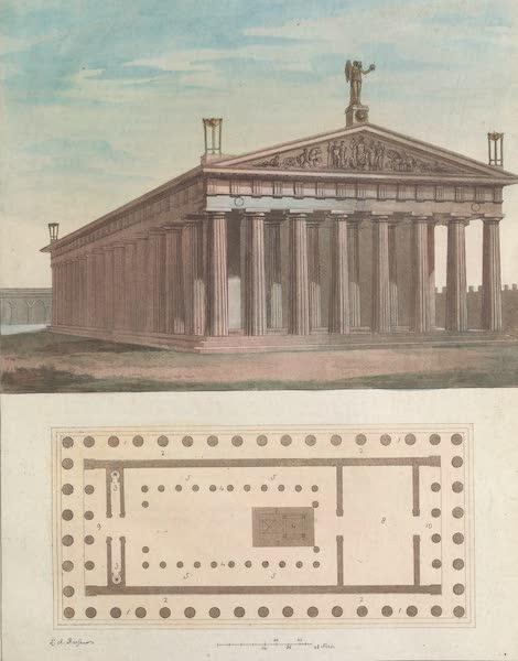 Le Costume Ancien et Moderne [Europe] Vol. 1, Pt. 1 - LVII. Plan et elevation du temple de Jupiter Olympien (1817)