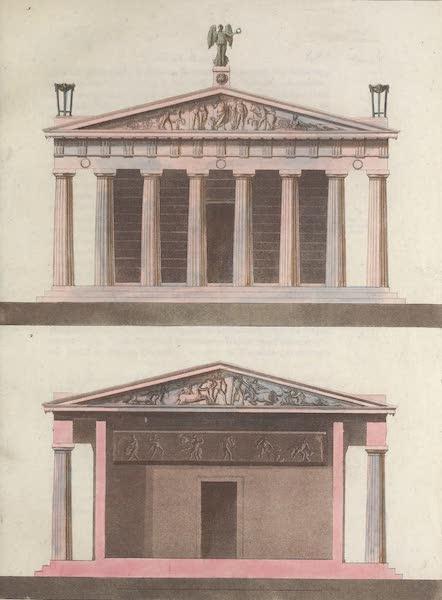 Le Costume Ancien et Moderne [Europe] Vol. 1, Pt. 1 - LVIII. Pronaos antérieur et postérieur de ce temple (1817)