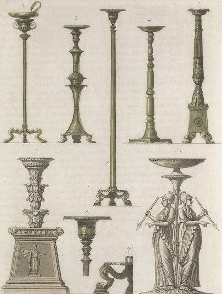 Le Costume Ancien et Moderne [Europe] Vol. 1, Pt. 1 - LXI. Candelabres (1817)