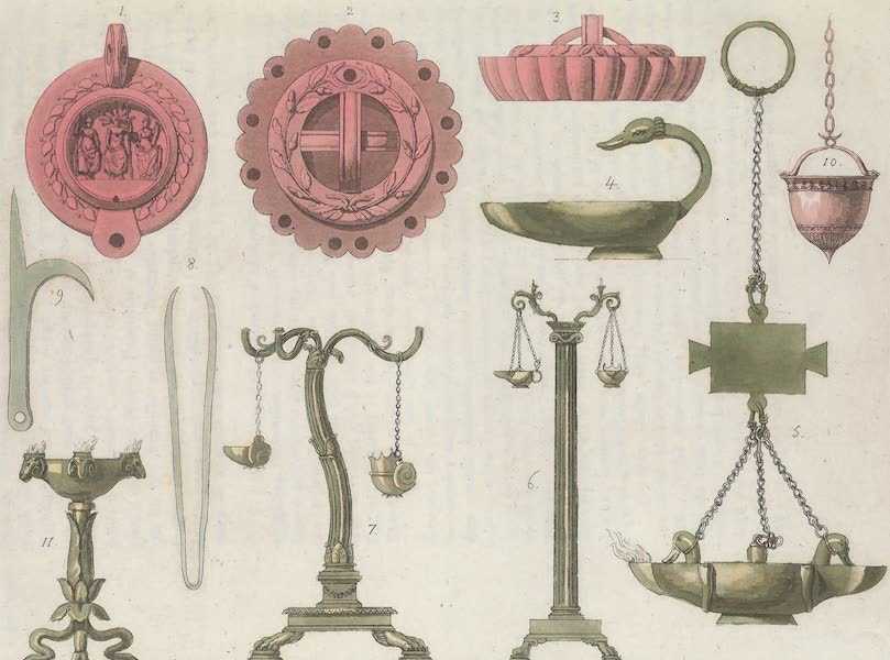Le Costume Ancien et Moderne [Europe] Vol. 1, Pt. 1 - LXII. Lampes (1817)