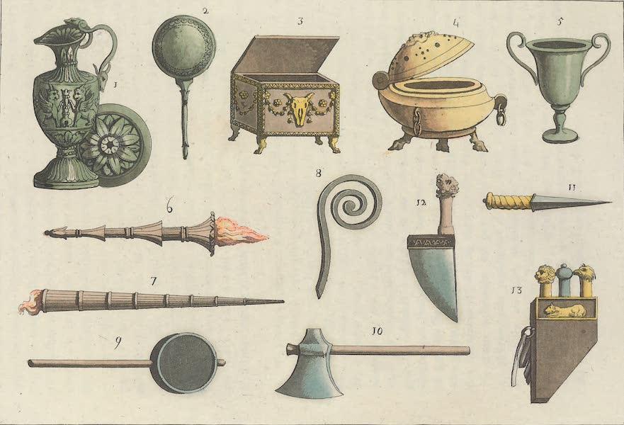 Le Costume Ancien et Moderne [Europe] Vol. 1, Pt. 1 - LXIII. Vases, pateres etc. (1817)