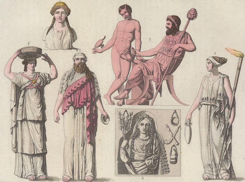 Le Costume Ancien et Moderne [Europe] Vol. 1, Pt. 1 - LXIV. Pretres, Pretresses (1817)