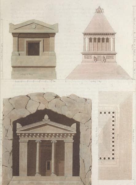 Le Costume Ancien et Moderne [Europe] Vol. 1, Pt. 1 - LXXII. Sarcophage etc. (1817)