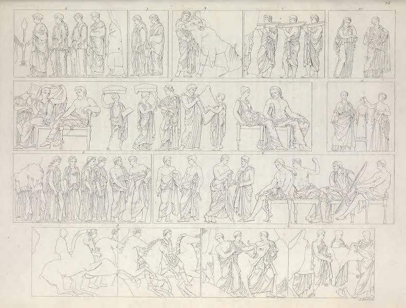 Le Costume Ancien et Moderne [Europe] Vol. 1, Pt. 1 - LXXV. Les Panathenees [II] (1817)