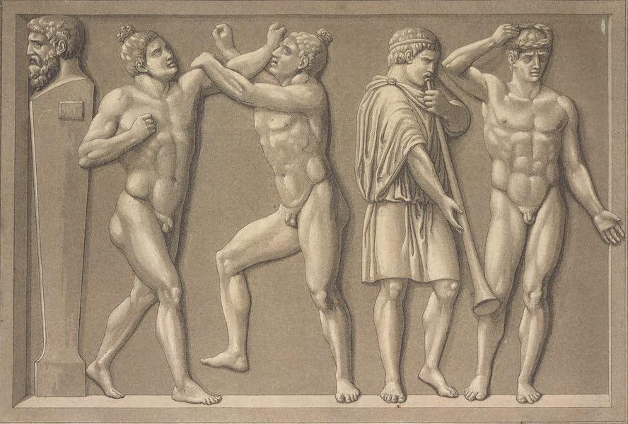 Le Costume Ancien et Moderne [Europe] Vol. 1, Pt. 1 - LXXXI. Combat du Pancrace. Pancratiastes du Musee-Pio-Clementin  (1817)