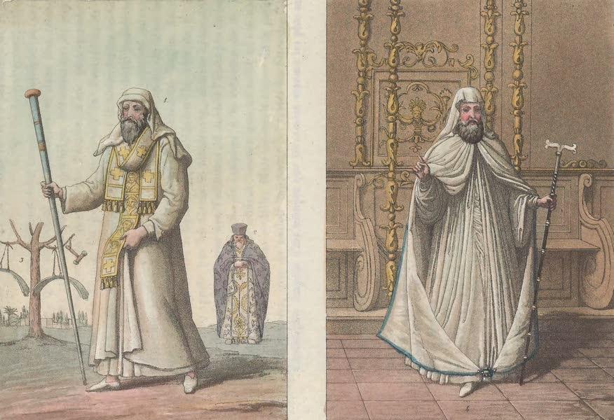 Le Costume Ancien et Moderne [Europe] Vol. 1, Pt. 1 - LXXXVI. Habillement des Galogers : Patriarche de Constantinopole. Habillement de ceremonie des Papas etc. (1817)