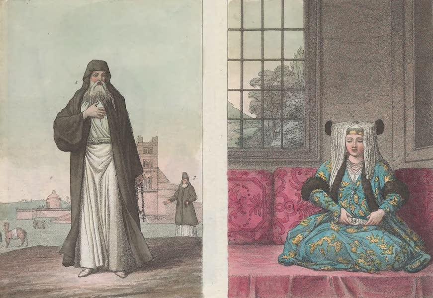 Le Costume Ancien et Moderne [Europe] Vol. 1, Pt. 1 - LXXXVII. Epouse en habit de noces. Proto-Papas : Papas en habit ordinaire (1817)