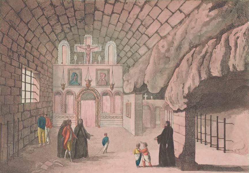 Le Costume Ancien et Moderne [Europe] Vol. 1, Pt. 1 - XC. Interieur de l'Eglise de l'Apocalypse dans l'ile de Pathmos (1817)