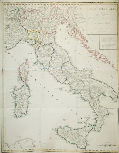 Le Costume Ancien et Moderne [Europe] Vol. 2 - Carte Géographique de l'Italie (1820)