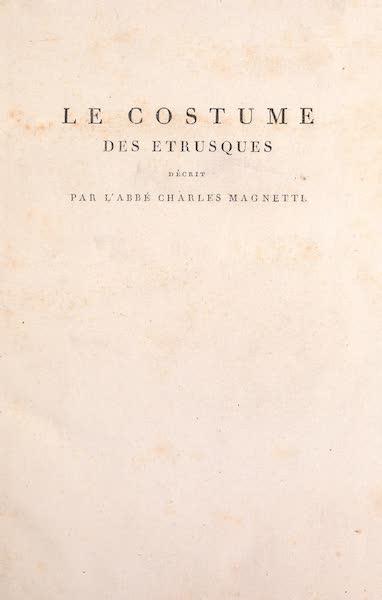 Le Costume Ancien et Moderne [Europe] Vol. 2 - Title Page - Le Costume des Etrusques (1820)