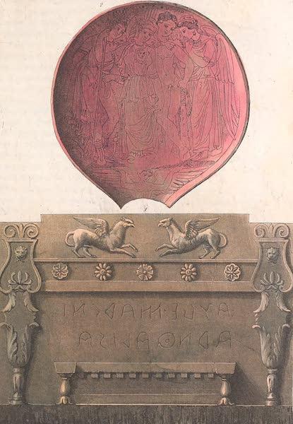 Le Costume Ancien et Moderne [Europe] Vol. 2 - IV. Urne de marbre sur laquelle est represente un trone (1820)