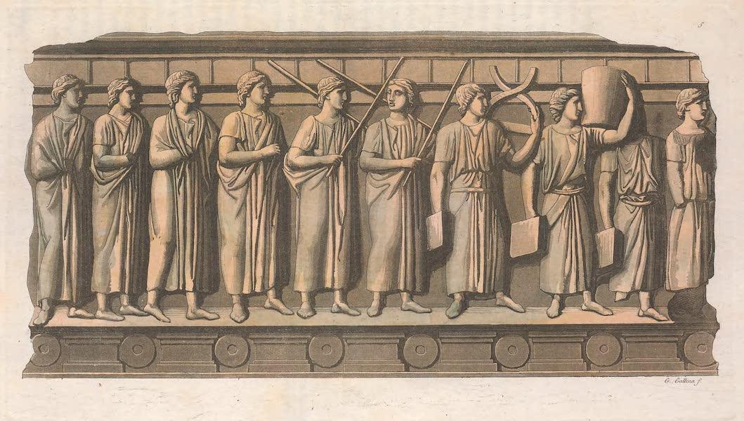 Le Costume Ancien et Moderne [Europe] Vol. 2 - V. Urne Etrusque ou sont representes quelques magistrats (1820)