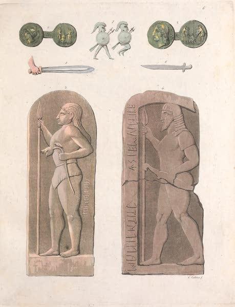 Le Costume Ancien et Moderne [Europe] Vol. 2 - VI. Guerriers Etrusques (1820)