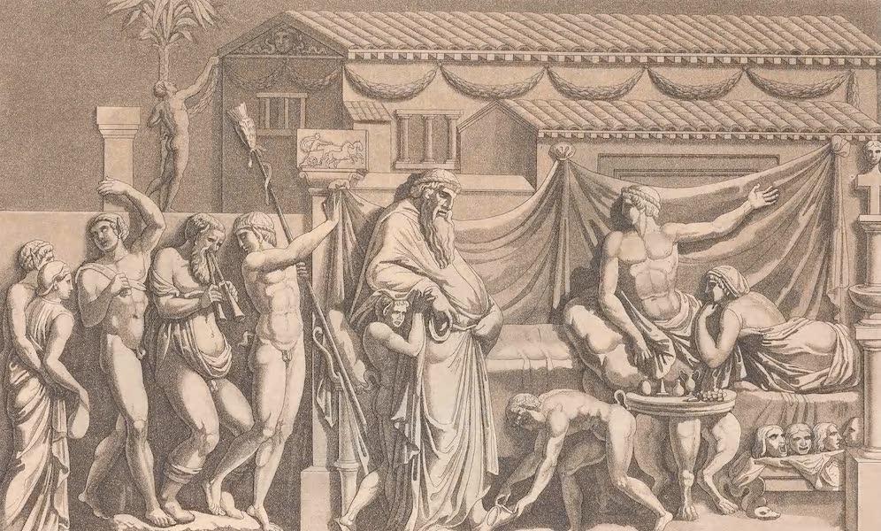 Le Costume Ancien et Moderne [Europe] Vol. 2 - LIV. Biclinium (1820)