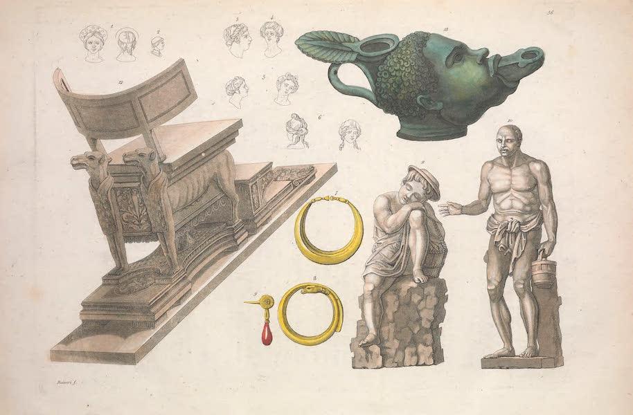 Le Costume Ancien et Moderne [Europe] Vol. 2 - LVI. Coiffure, habillement et meubles etc. (1820)