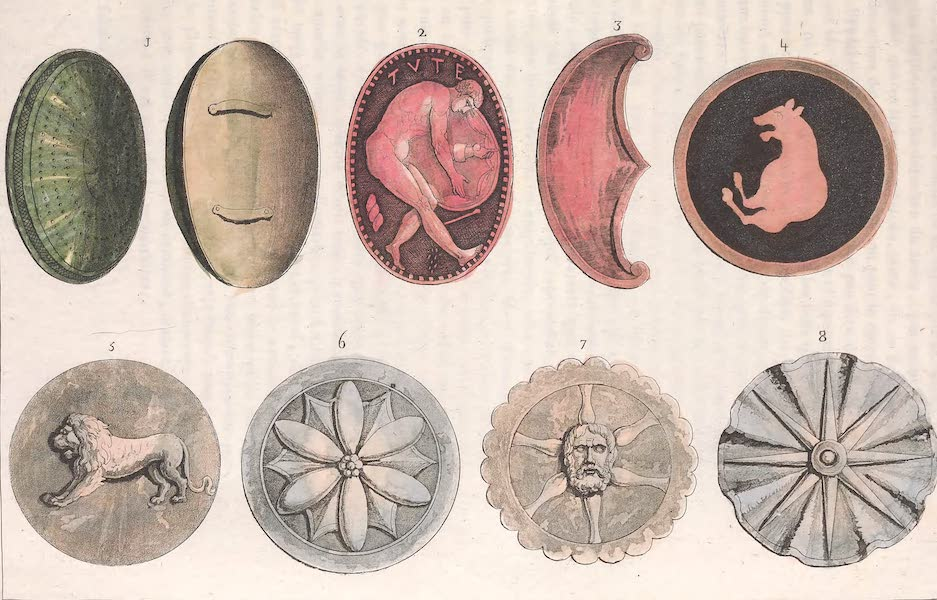 Le Costume Ancien et Moderne [Europe] Vol. 2 - VIII. Boucliers Etrusques (1820)