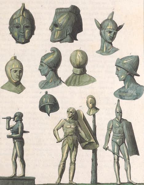Le Costume Ancien et Moderne [Europe] Vol. 2 - IX. Casques de diveses sortes (1820)