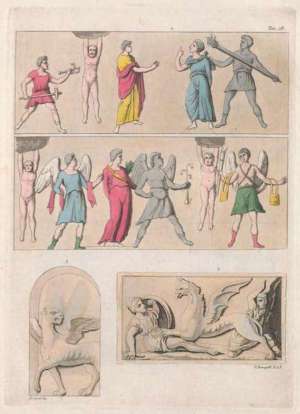 Le Costume Ancien et Moderne [Europe] Vol. 2 - XXIX. Personnes apres la mort dans un sejour de repos eu de delices  (1820)