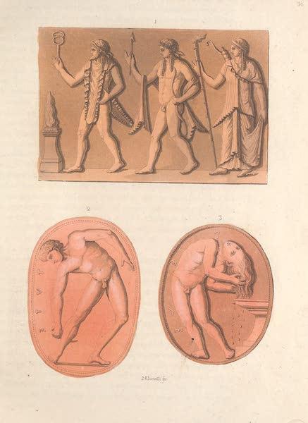 Le Costume Ancien et Moderne [Europe] Vol. 2 - XXXVI. Sculpture de style Etrusque de la seconde epoque (1820)