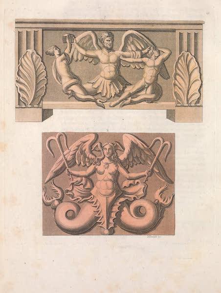 Le Costume Ancien et Moderne [Europe] Vol. 2 - XL. Genies infernaux des Etrusques pris pour des Divinites marines (1820)