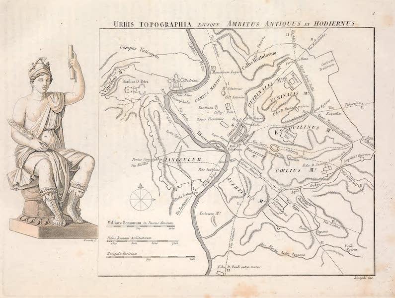 Le Costume Ancien et Moderne [Europe] Vol. 2 - I. Circuit ancien et moderne de la ville de Rome. Rome representee (1820)