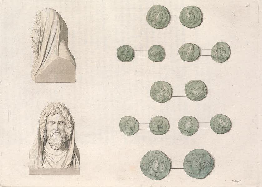 Le Costume Ancien et Moderne [Europe] Vol. 2 - IV. Medailles representant les anciens Roi de Rome. Buste de Numa  (1820)