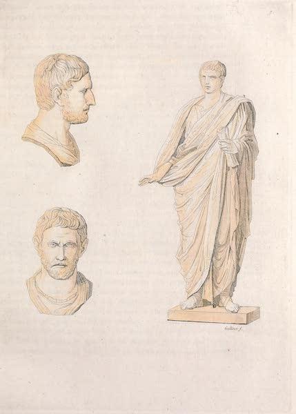 Le Costume Ancien et Moderne [Europe] Vol. 2 - VII. Auguste en toge. Tete de Junius Brutus (1820)